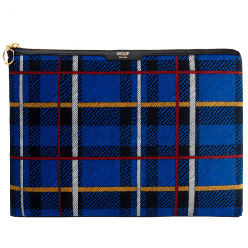 Blue Tartan Velvet Macbook Pro 13″ Laptop Sleeve