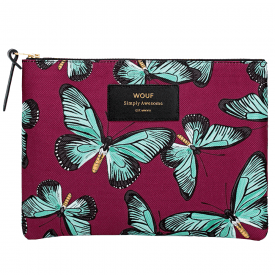 Butterfly Zipped Large Pouch