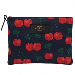 Cherries Zipped Large Pouch