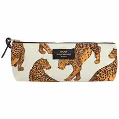 Cream Leopard Pencil Case