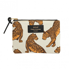 Cream Leopard Small Pouch