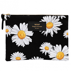 Daisy Zipped Large Pouch