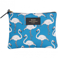 Flamingo Zipped Large Pouch