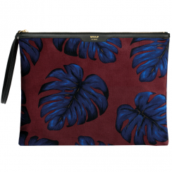 Leaves Velvet Large Clutch