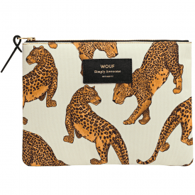 Leopard Zipped Large Pouch