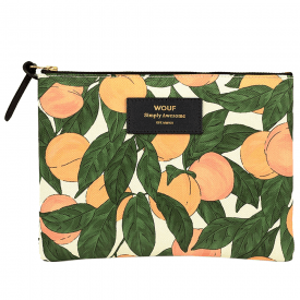 Peach Zipped Large Pouch