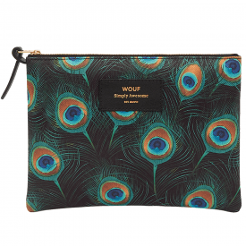 Peacock Zipped Large Pouch