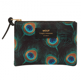 Peacock Zipped Small Pouch