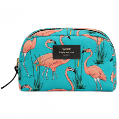 Pink Flamingos Big Beauty Make up Bag