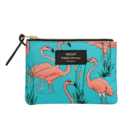 Pink Flamingos Small Pouch