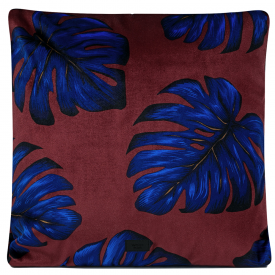 Soft Velvet Leaves Cushion