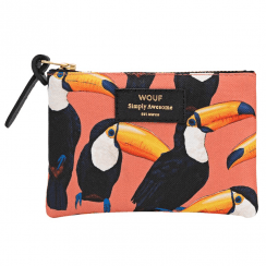 Toco Toucan Zipped Small Pouch