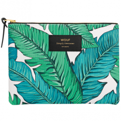 Tropical Zipped Large Pouch