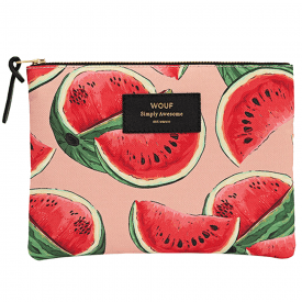 Watermelon Zipped Large Pouch