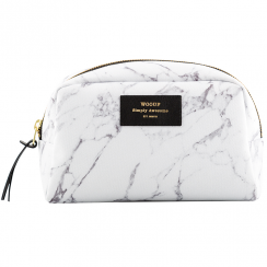 White Marble Big Beauty Make up Bag