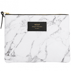 White Marble Large Pouch
