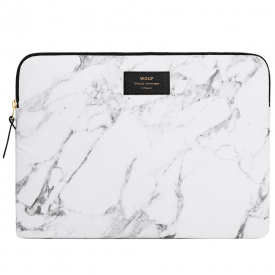 "White Marble Macbook Pro 15"" Laptop Sleeve"