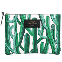 Wild Cactus Zipped Large Pouch