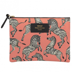 Zebra Zipped Large Pouch